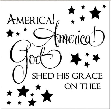 America America God Shed His Grace On Thee by Sayitonthewall