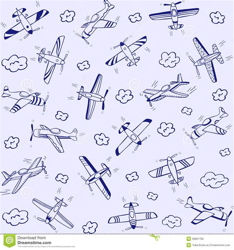 pattern airplane plans airplanes pattern stock vector image 39687706