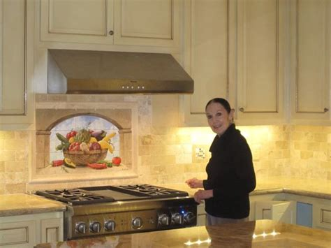 murals for kitchen backsplash harvest basket tile mural mediterranean kitchen san diego by murals by monti