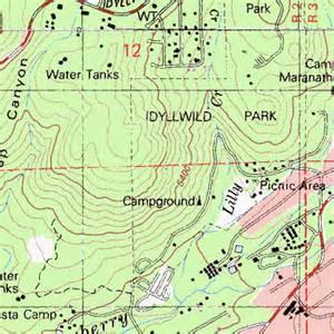 idyllwild california map idyllwild pine cove census designated place ca