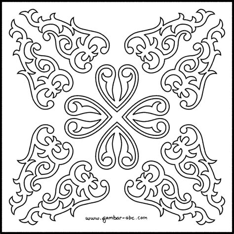 contoh gambar batik tanpa warna seeker