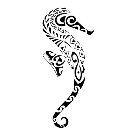 seahorse tattoo designs black seahorse design with simple black white color