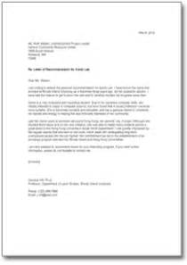 Letter Of Recommendation For An Intern by Letter Of Recommendation For An Internship Sle Direct To