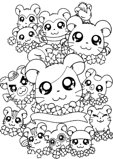 cute pattern colouring pages cute hamtaro free coloring advice for your home decoration
