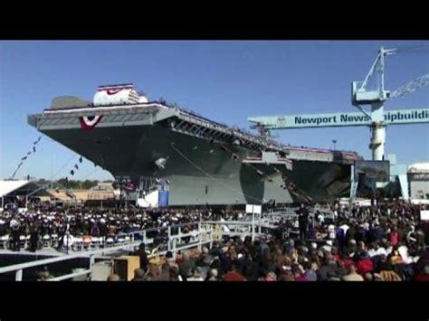 nuove portaerei americane varata negli usa la uss gerald ford la portaerei hi