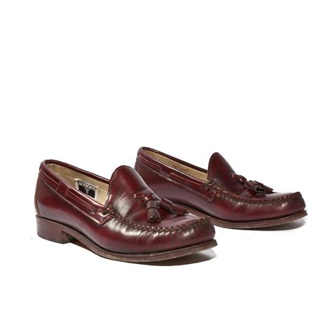 womens loafers with tassels s frye tassel loafers in burgundy by wildrabbitvintage