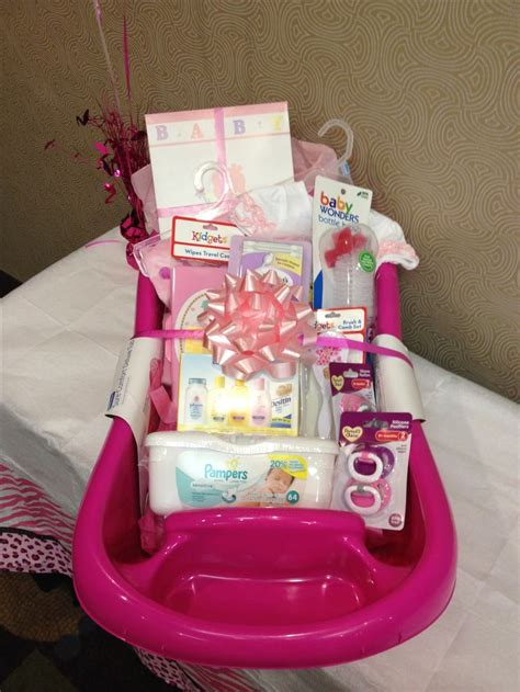 Gifts To Give For Baby Shower by Baby Shower Gift Basket Idea Baby Gift Idea