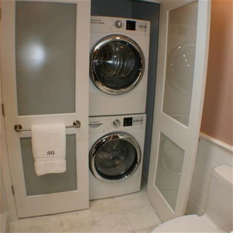 bathroom with washer and dryer stacked washer and dryer design in bath house stuff