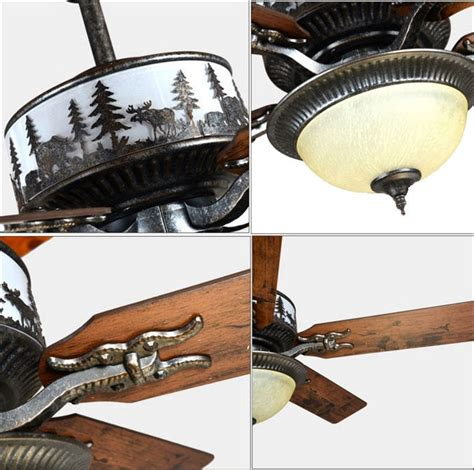 wrought iron ceiling fan coffee shop country decor rustic wrought iron led fancy