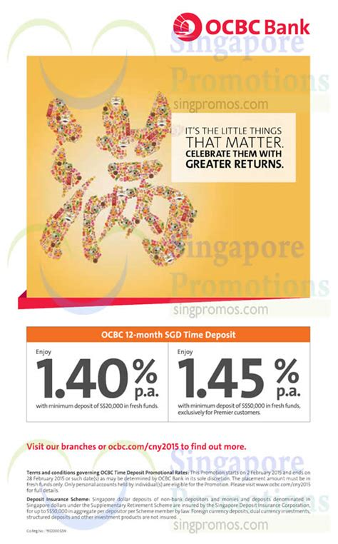 ocbc credit card new year promotion 2015 ocbc up to 1 4 p a 12 mth time deposits promo 2 feb 2015