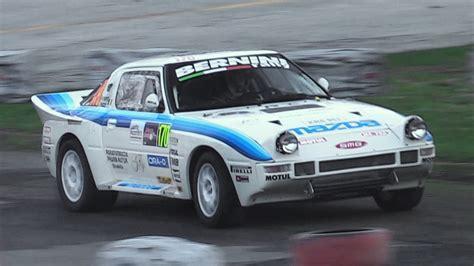 mazda rx7 sound mazda rx 7 rally b 13b wankel rotary engine sound