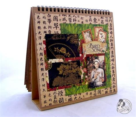 scrapbook layout easel other graphic 45 bird song 8x8 easel album