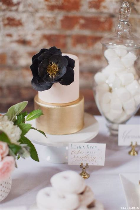 Blush Pink Decor by 49 Amazing Black And White Wedding Cakes Deer Pearl Flowers