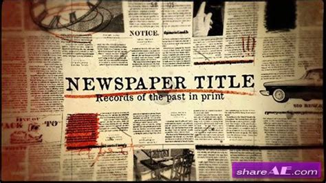 Newspaper Title After Effects Template Motionvfx 187 Free After Effects Templates After Newspaper After Effects Template