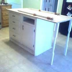 base cabinets repurposed to kitchen island