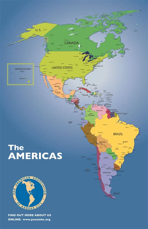 the map map of the americas