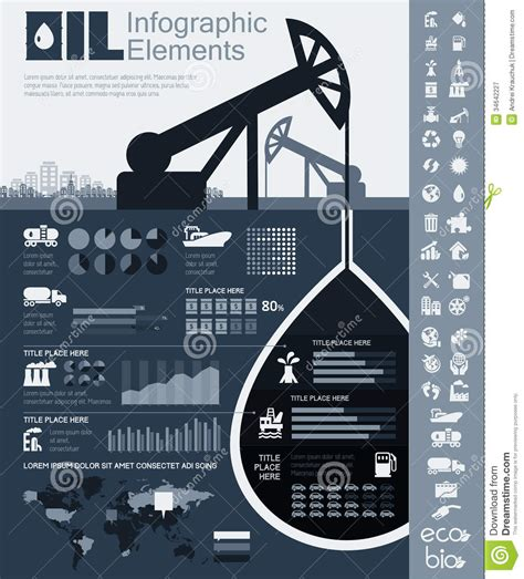 industry infographic template stock vector image 34642227