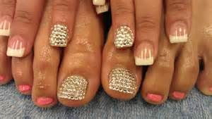 Pretty diamond toes and nails youtube