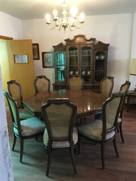 comedor antiguo de caoba pieza unica impecable