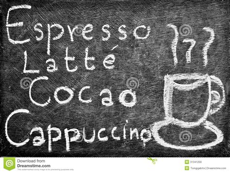Hand Drawing Coffee And Drink Menu Design Stock Photo   Image: 31341200