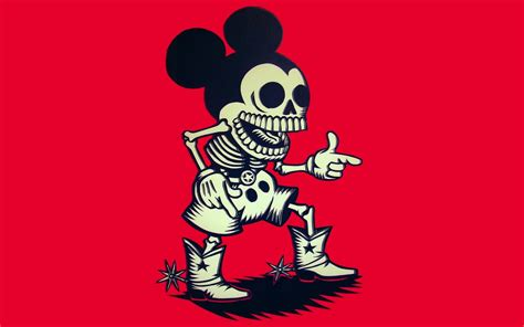 cowboy mouse film mickey mouse skeleton cowboy hd wallpaper