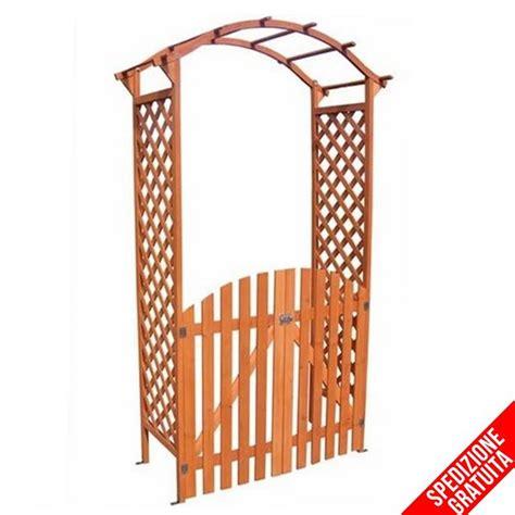arco da giardino arco per ricanti con cancello e grigliato in legno da
