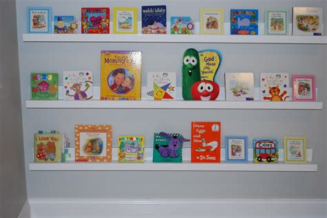 white nursery room book shelves from 10 ledge plan