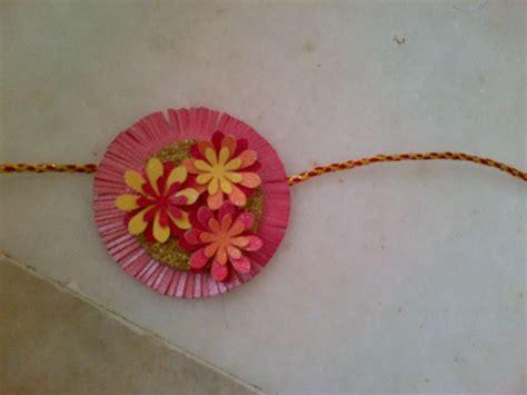 How To Make A Handmade Rakhi - handmade paper rakhi my creativity rakhi