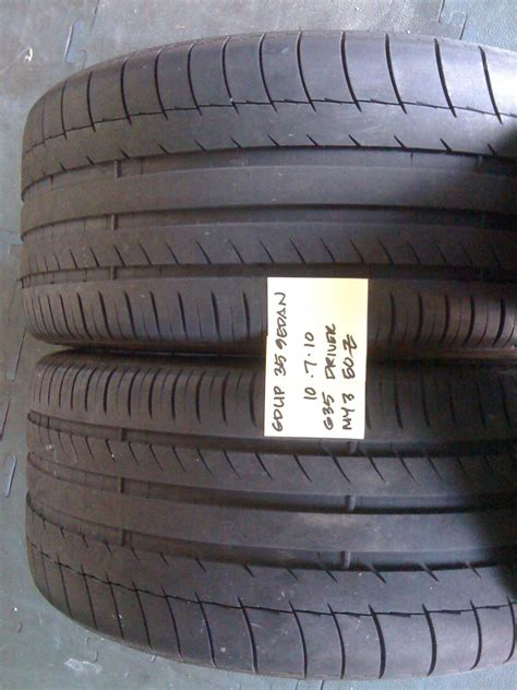 fs 255 35 19 michelin pilot sport all season 85 tread my350z forums fs 2x 255 35 19 michelin pilot ps2 g35driver
