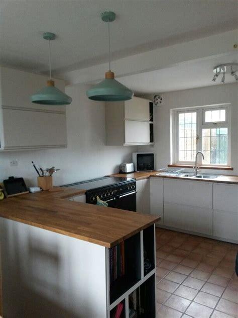 kitchen ikea voxtorp light beige oak worktops