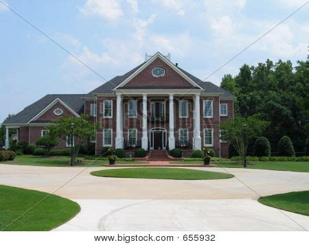 big brick houses red brick house image photo bigstock