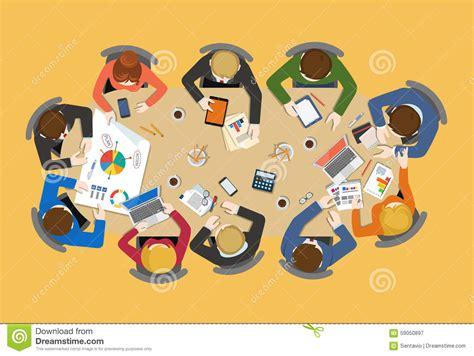 ufficio personale gruppo personale di ufficio intorno alla tavola