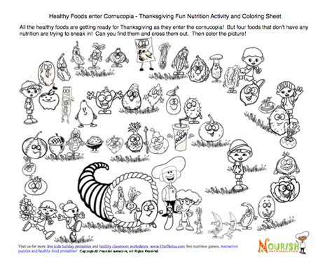 thanksgiving coloring page in spanish 7 best images of food cornucopia printable cornucopia