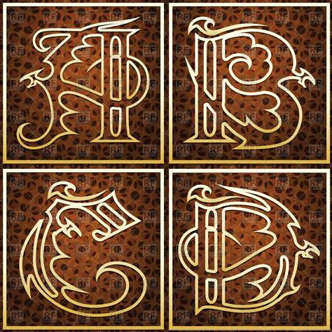 Capital Set set of capital letters a b c d in