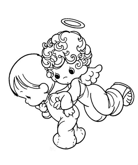 easy angel coloring pages easy printable precious moments coloring pages