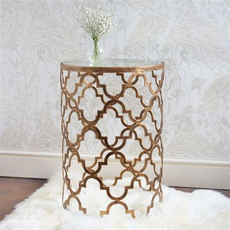 side table for bedroom quatrefoil gold and glass side table french bedroom company