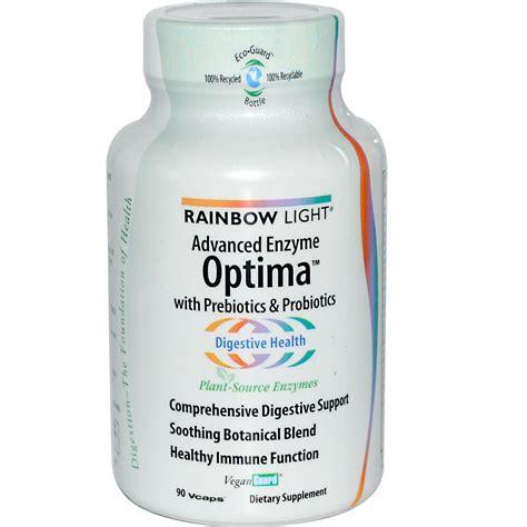 rainbow light digestive enzymes rainbow light advanced enzyme optima enzymes probiotics
