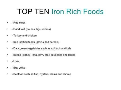 fruits n vegetables rich in iron iron rich foods list