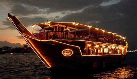 dinner on a boat abu dhabi abu dhabi dinner dhow cruise 2h