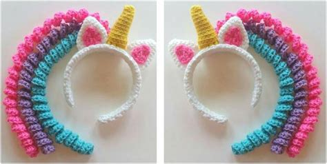pattern for unicorn headband delightful crocheted unicorn headband free crochet pattern