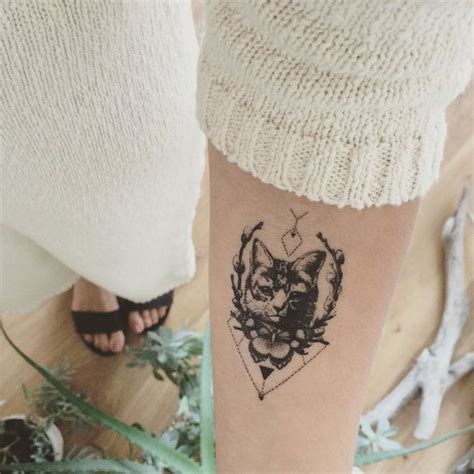 cat tattoo temporary 8 best cat tat images on pinterest cat tat free cat and