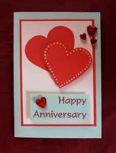 anniversary card overlapped hearts card