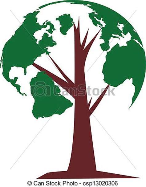 clipart mondo clipart vettoriali di mondo albero il globo crescente