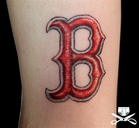b tattoo boston sox b hautedraws
