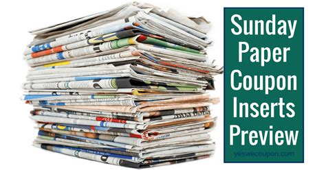 sunday paper printable grocery coupons yes we coupon archives a couponer s life