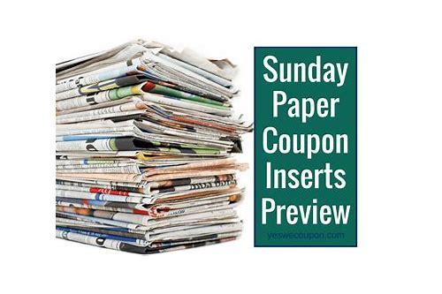 sunday coupon insert preview 5/31/15
