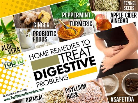 home remedies to treat digestive problems top 10 home