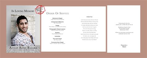 funeral service sheet template gallery of 218 best images about creative memorials with