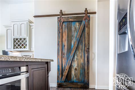 Blue Barn Door Blue Stained Sliding Door Porter Barn Wood