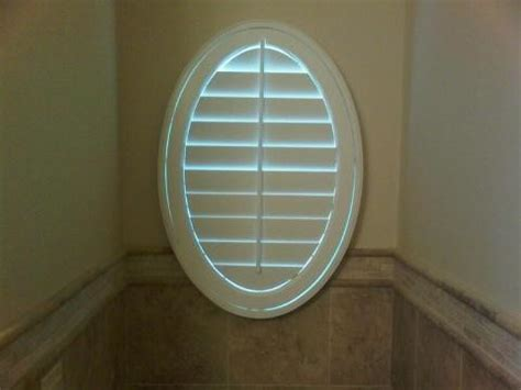 Oval Window Covering Oval Window Covering Traditional Bathroom By Blinds